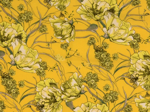 Viscose fleurs jaunes