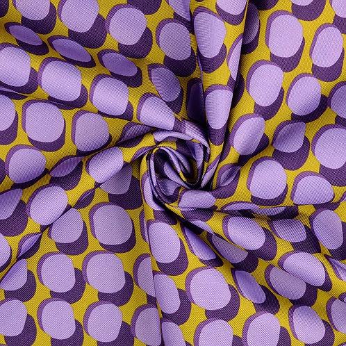 Tissu PVC enduit - ronds - violet clair
