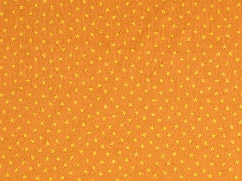 Double Gaze coton étoiles - Moutarde