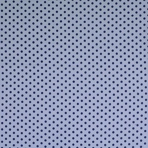 Double Gaze coton pois - Bleu