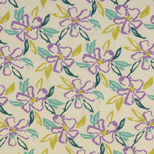 Jersey fleurs des iles - Blanc