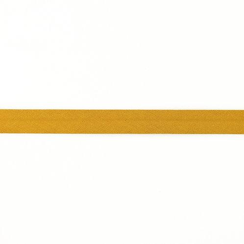 Biais coton Double Gaze - 20mm - Ocre