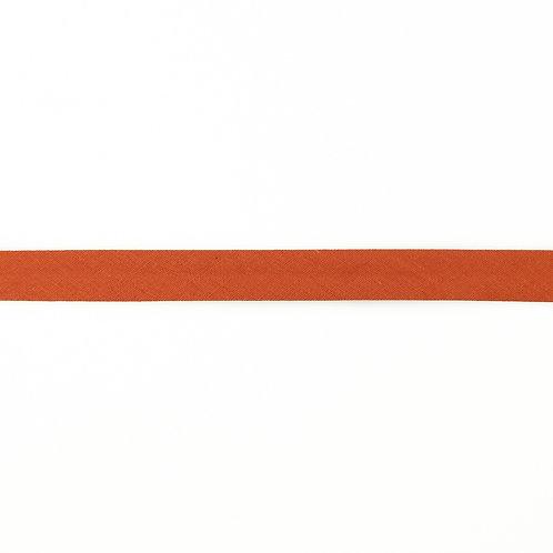 Biais coton Double Gaze - 20mm - Rouille