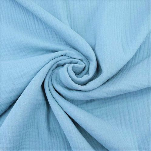 Double Gaze coton  -Bleu