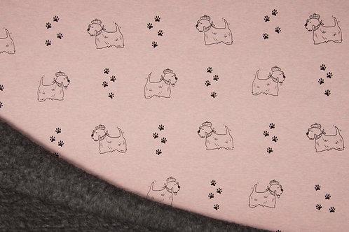 Sweat Minky chiens - Rose