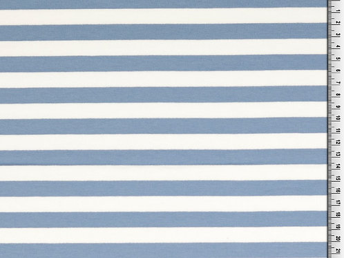 Sweat Bouclette Rayures - Bleu