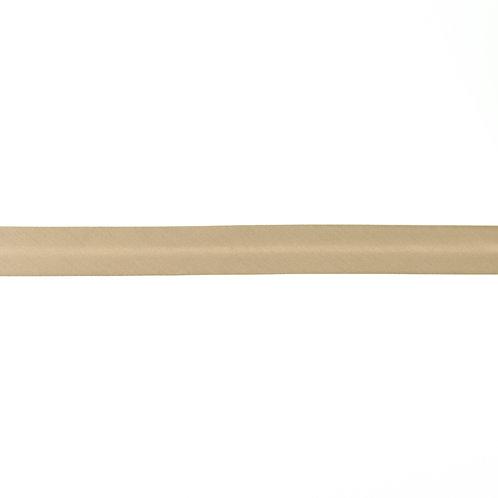 Biais popeline de coton - 20mm - Taupe