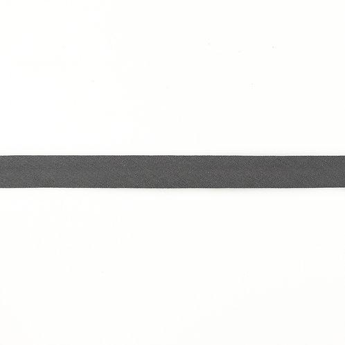 Biais coton Double Gaze - 20mm - Gris moyen
