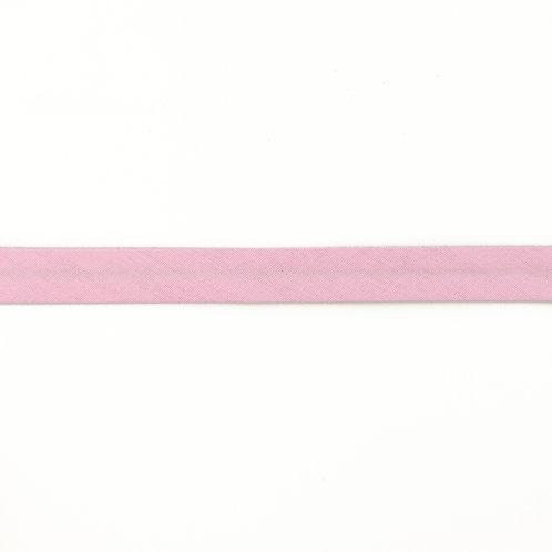 Biais coton Double Gaze - 20mm - Rose