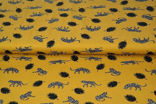 Jersey GOTS - Coton BIO - Tigres - Moutarde