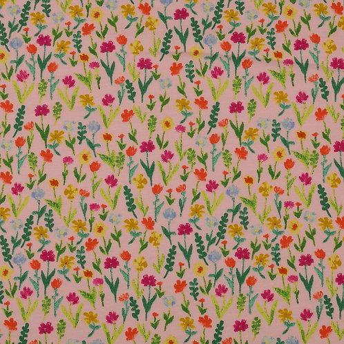 Jersey fleurs des champs - Rose