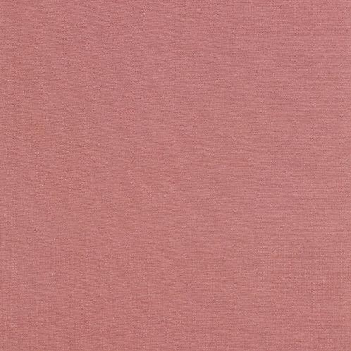 Bord côte jersey tubulaire GOTS - Coton bio -Rose