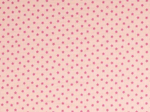 Double Gaze coton étoiles - Rose