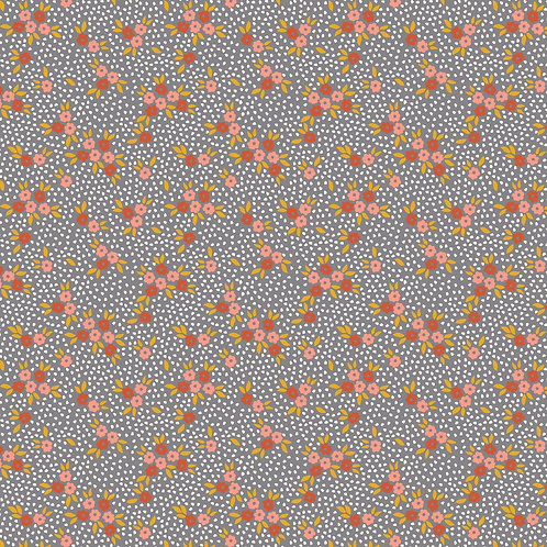 Jersey Bosquet de fleurs /Gris