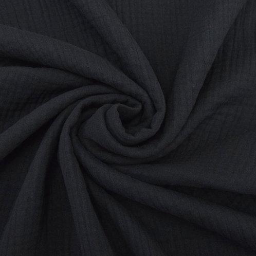 Double Gaze coton  - Noir