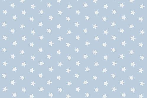 Popeline étoiles Bleu