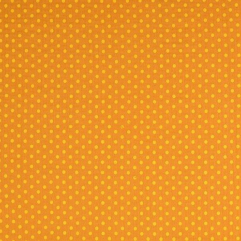Double Gaze coton pois - moutarde