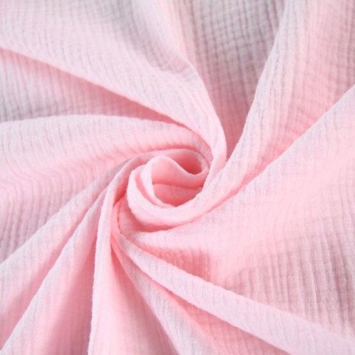 Double Gaze coton  - Rose