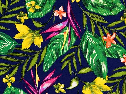 Viscose fleurs tropicales