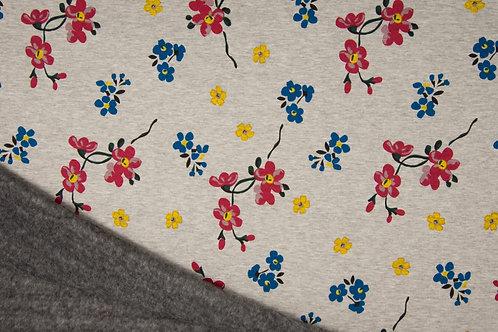 Sweat Minky Fleurs Japonaises