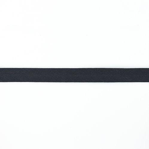 Biais coton Double Gaze - 20mm - Gris Foncé