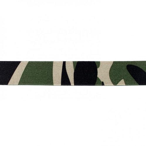 Elastique Imprimé 25 mm Camouflage
