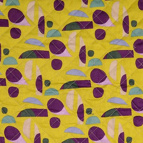 Tissu coton matelassé formes géométriques - Jaune