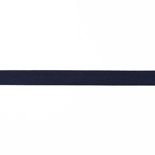 Biais coton Double Gaze - 20mm - Bleu marine