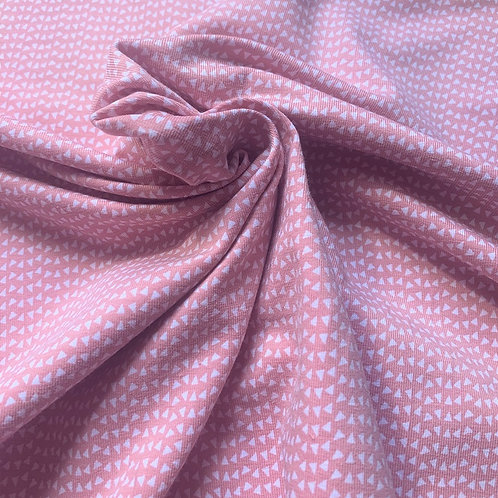 Jersey petits triangles - Rose