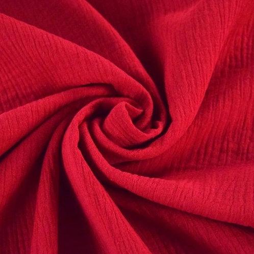 Double Gaze coton  - Rouge