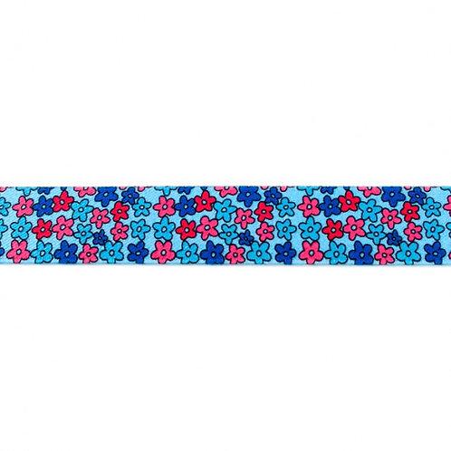 Elastique Imprimé 25 mm petites fleurs