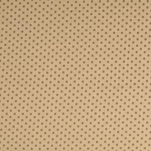Double Gaze coton pois - marron clair