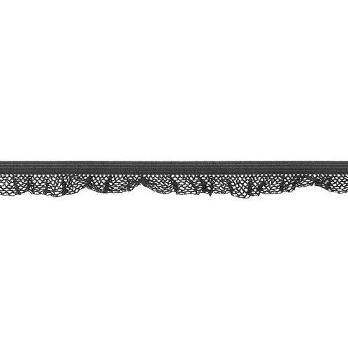 Elastique Dentelle 14MM - Gris foncé