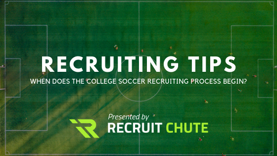 When does the college soccer recruiting process begin?