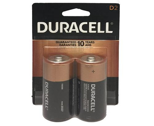 DURACELL - BATTERIES - D2/2PK - MADE IN USA