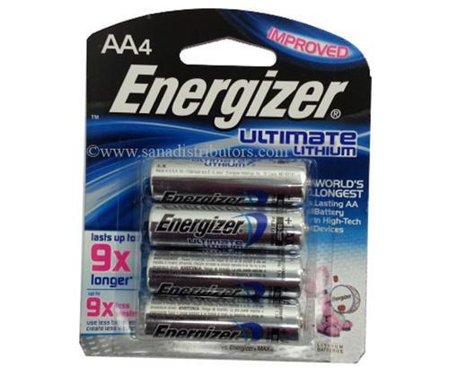 ENERGIZER - BATTERIES - AA/4 LITHIUM