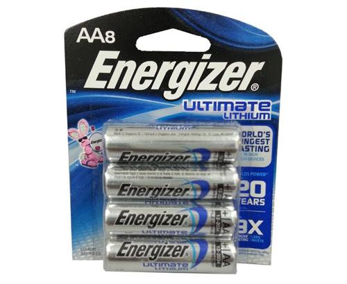 ENERGIZER - BATTERIES - AA/8 LITHIUM