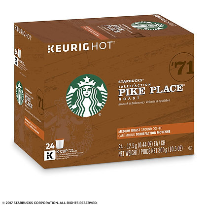 STARBUCKS K CUP (REC) PIKE PLACE 24 CT