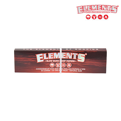 ELEMENTS RED CONNOISSEUR KING SIZE SLIM