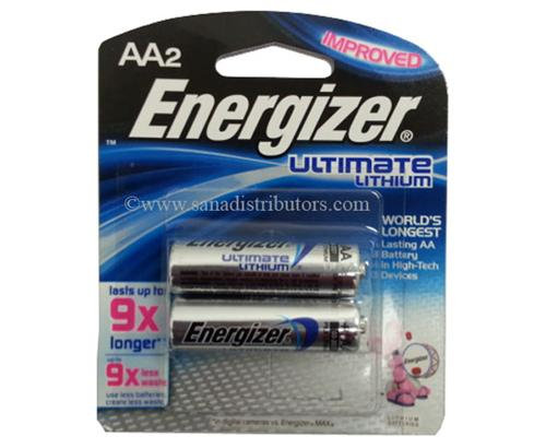 ENERGIZER - BATTERIES - AA/2 LITHIUM