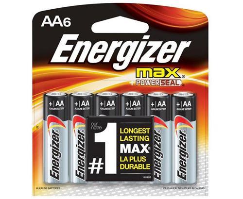 ENERGIZER - BATTERIES - MAX AA-6