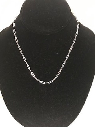 UNISEX  STERLING SILVER 18' INCH CHAIN NECKLACE