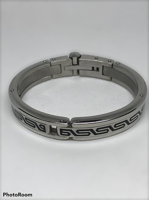 """Mens' Stainless Steel Bangle Bracelet 9"""" inch"""