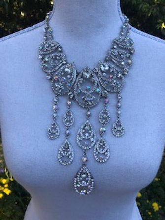 VTG RHINESTONE STATEMENT NECKLACE