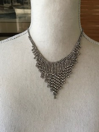 Rhinestone Short Fringed Necklace