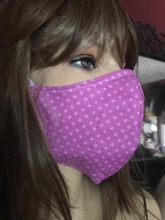 PINK POLKA DOTS Face Mask