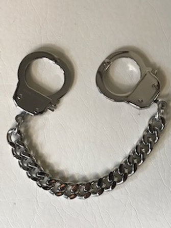 """HANDCUFF CHAIN BRACELET ( STAINLESS STEEL )  7.25"""""""