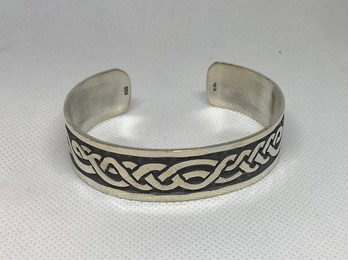 Sterling Silver TAXCO Tribal Cuff Bracelet ( unisex )