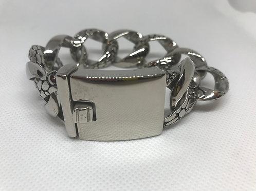 Stainless Steel Heavy textured Mens Bracelet