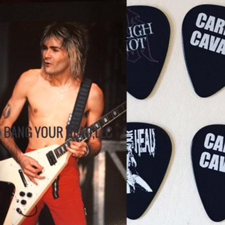 CARLOS CAVAZO VTG 1984  photo & Guitar Picks COMBO DEAL